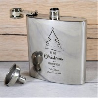Personalized Christmas Whisky Flask