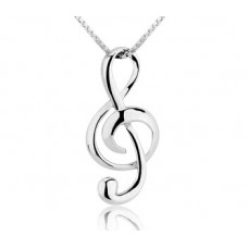 Pure Silver Musical Shaped Necklace