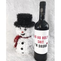 Personalized Christmas Wine Bottle