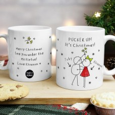 Couples Christmas Personalized  Mug Set