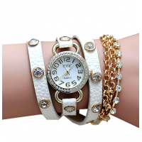 Sparkle women's Fashion Leather Straps Bracelet Watch
