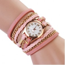 Braided Rope Wrap Bracelet Watch